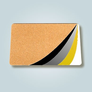 Plastikkarte broncemetallic 1/0 farbig bedruckt