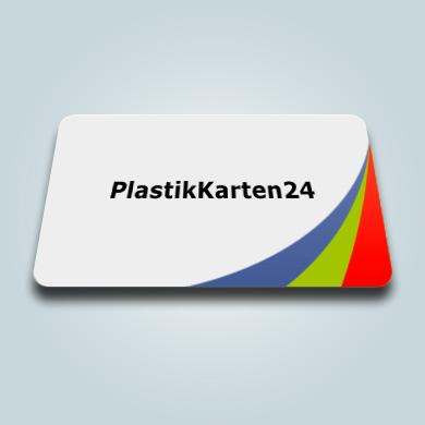 Plastikkarte - weiß 4/0 farbig bedruckt